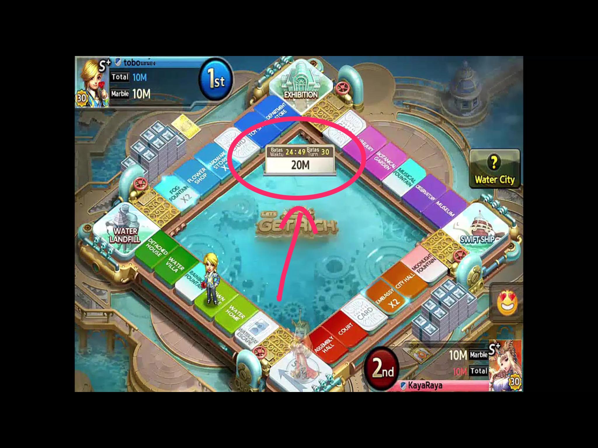total marble dalam permainan lets get rich